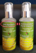 Label error from anti-bacterial changed to antimicrobial